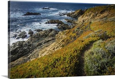Rocky Big Sur Pacific Coast Cliff, California
