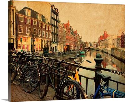 Singel canal in Amsterdam, Netherlands