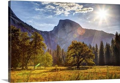 Sunrise On Half Dome, Yosemite National Park, California