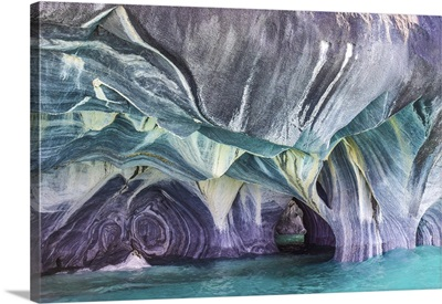 The Blue Colors Of The Marble Caves In Patagonia, Chile