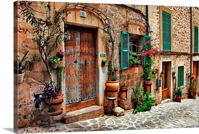 The charming streets of old Mediterranean towns