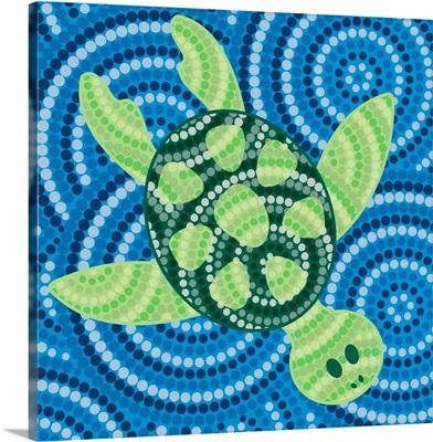 Turtle - Aboriginal Dot Painting