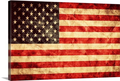 United States Of America Flag in a grunge style