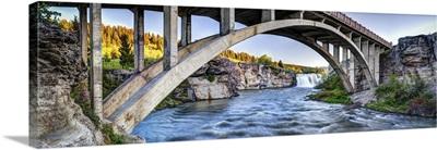 Waterfall Under Bridge, Alberta, Canada