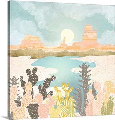 Retro Desert Oasis