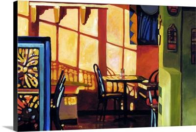 Santa Fe Cafe at Sunset