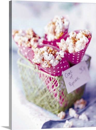 Bag of Popcorn Tipped Over; Bags of Popcorn Wall Art, Canvas Prints ...