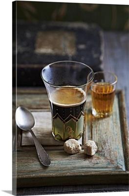 Cafe Corretto (espresso with brandy)