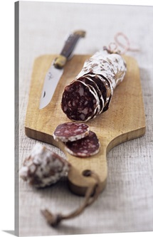 French hard-cured beef sausage
