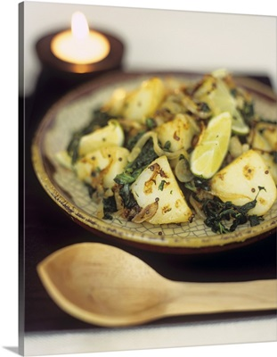 Saag aloo (Indian potato and spinach curry)