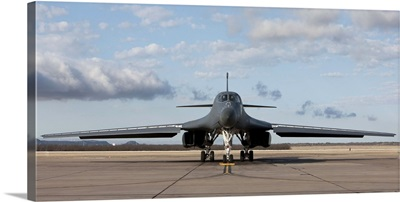A B-1B Lancer at Dyess Air Force Base, Texas