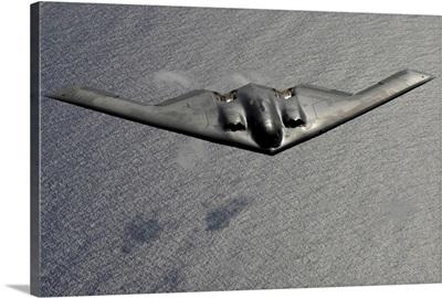 A B2 Spirit flies over the Pacific Ocean