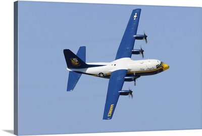 A C-130 Hercules of the Blue Angels flight demonstration squadron
