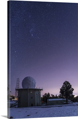 A defunct Air Force Station radar tower at Mount Lemmon Observatory
