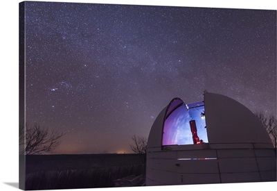 A domed observatory, Crowell, Texas