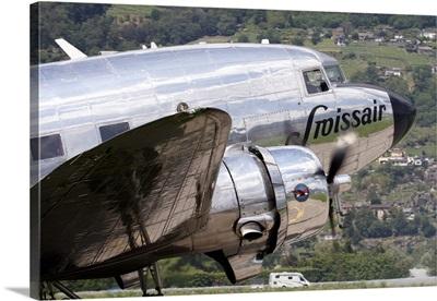 A Douglas DC-3 of Swiss International Air Lines