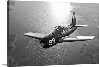 A Grumman F8F Bearcat in flight
