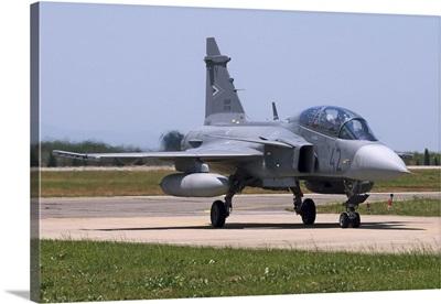 A Hungarian Air Force JAS-39D Gripen