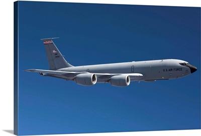 A KC-135R flies a training mission over Arizona