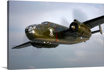 A North American B 25 Mitchell in flight