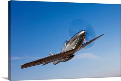 A P 51D Mustang in flight
