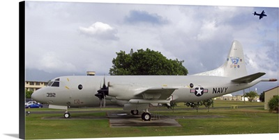 A P3 Orion aircraft on display