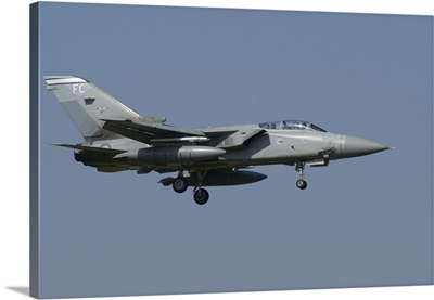 A Panavia Tornado F3 of the Royal Air Force over Florennes, Belgium