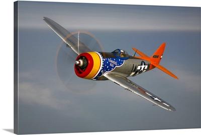 A Republic P 47D Thunderbolt in flight