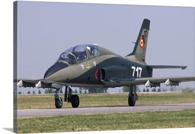 A Romanian Air Force advanced trainer IAR 99 Soim