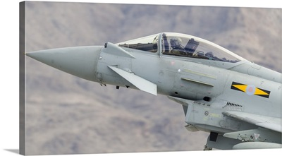 A Royal Air Force Eurofighter Typhoon FGR4 gets airborne