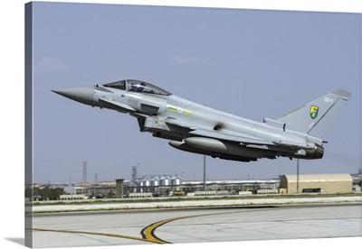 A Royal Air Force Typhoon FGR4 taking off from Konya Air Base, Turkey