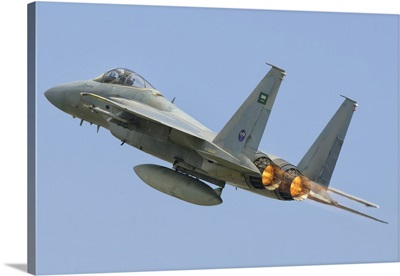 A Royal Saudi Air Force F-15C during Exercise Green Shield 2014 in France