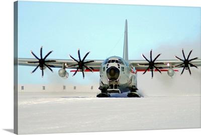 A ski equipped LC 130 Hercules