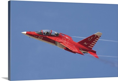 A special painted Yak-130 performing at an airshow