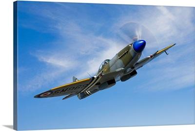 A Supermarine Spitfire Mk 18 in flight
