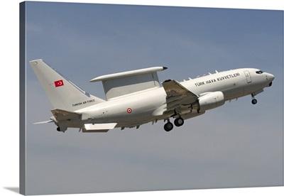 A Turkish Air Force Boeing 737-7ES Wedgetail