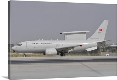 A Turkish Air Force Boeing 737 Airborne Early Warning and Control aircraft
