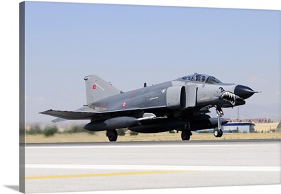 A Turkish Air Force F-4E-2020 Terminator on the runway