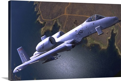 A U.S. Air Force A-10 Thunderbolt during a demo flight