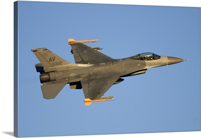 A U.S. Air Force F-16C Fighting Falcon flying over Italy