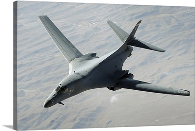 A US Air Force B1B Lancer on a combat patrol over Afghanistan