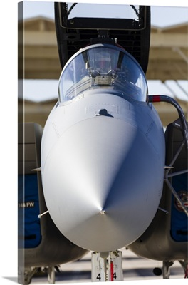 A US Air Force F-15C Eagle on the ramp at Nellis Air Force Base, Nevada