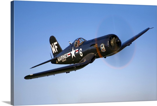 A Vought F4U 5 Corsair in flight