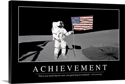 Achievement: Inspirational Quote and Motivational Poster