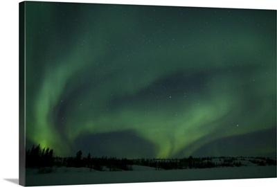 Active Aurora over Vee Lake Yellowknife Northwest Territories Canada