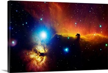 Alnitak region in Orion Flame nebula NGC 2024 horsehead nebula IC434