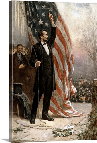 American Civil War Painting Of President Abraham Lincoln