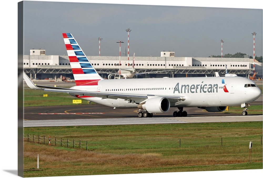 An American Airlines Boeing 767 At Milano Malpensa Airport Italy Wall Art Canvas Prints Framed Prints Wall Peels Great Big Canvas