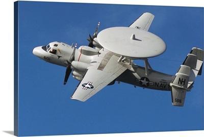 An E2C Hawkeye in flight