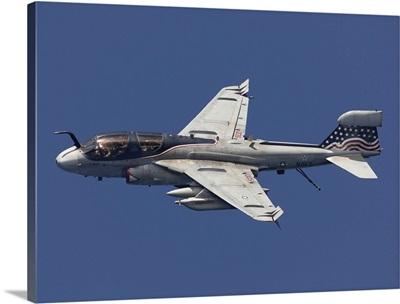 An EA-6B Prowler in flight over the Arabian Sea
